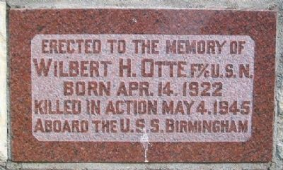 Wilbert Henry Otte Memorial image. Click for full size.