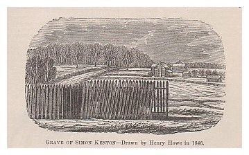 The Original Burial Place of General Simon Kenton Marker image. Click for full size.