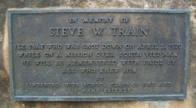 Steve W. Train Memorial Marker image. Click for full size.