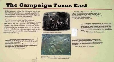'The Campaign Turns East' Marker Along the Walking Trail image. Click for full size.