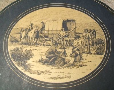 The Mormon Battalion at McPherson, Kansas Marker Detail image. Click for full size.