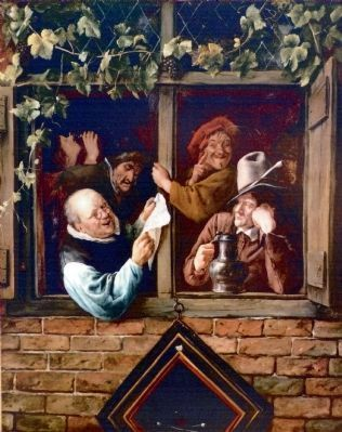 Rhetoricians at a Window<br>By Jan Steen image. Click for full size.