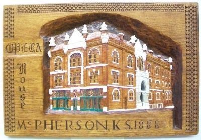 McPherson Opera House Carving image. Click for full size.