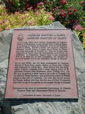 Jacques Cartier at Gaspe Marker image. Click for full size.