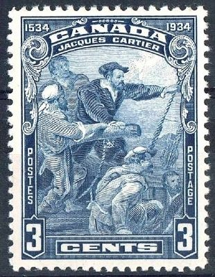 Jacques Cartier, Canadian postage stamp image. Click for full size.
