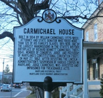 Carmichael House Marker image. Click for full size.