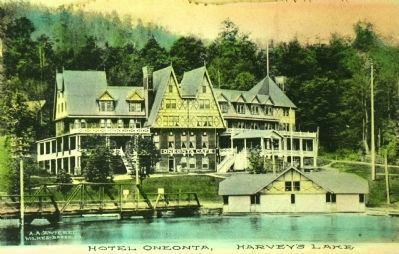 <i>Hotel Oneonta, Harvey&#39;s Lake, N.Y.</i> image. Click for full size.