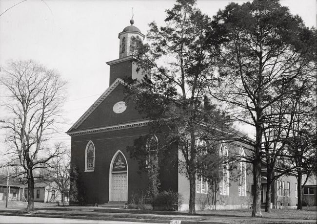<i>FRONT ELEVATION - WEST - First Presbyterian Church, East Fourth & North Broad Streets, …</i> image. Click for full size.