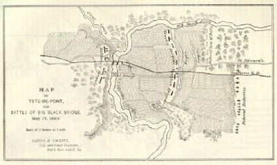 Map of Tete-de-Pont and Battle of Big Black River Bridge image. Click for full size.