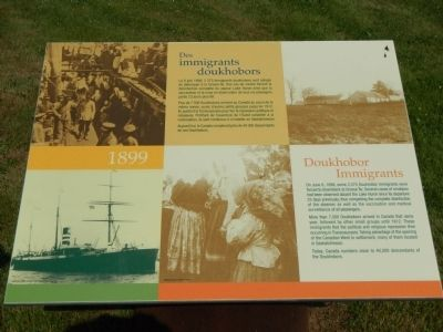 Doukhobor Immigrants Marker image. Click for full size.