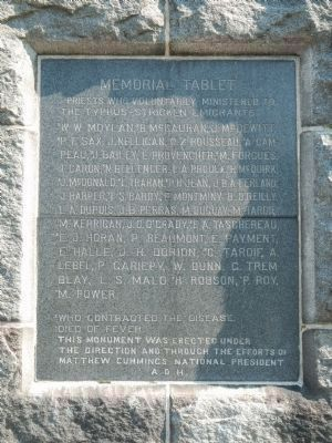 Memorial Tablet on the The Celtic Cross image. Click for full size.