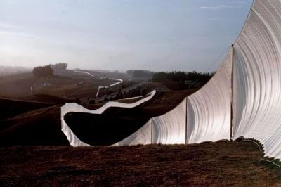 Christo's Running Fence image. Click for full size.
