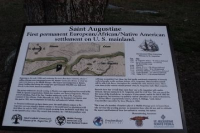 St Augustine Marker- First Permanent Settlement image. Click for full size.