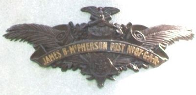 James B. McPherson Post No. 87 G.A.R. image. Click for full size.