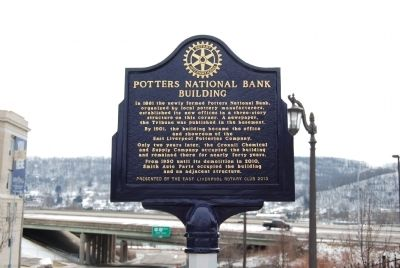 Potters National Bank Building Marker image. Click for full size.