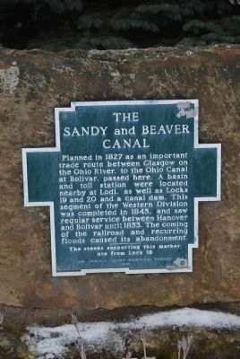 The Sandy and Beaver Canal Marker image. Click for full size.