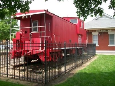 MoPac Caboose in William B. Howard Station Park image. Click for full size.