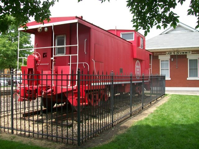 MoPac Caboose in William B. Howard Station Park