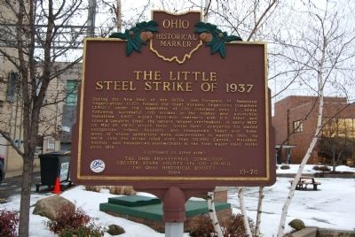 The Little Steel Strike of 1937 Marker image. Click for full size.
