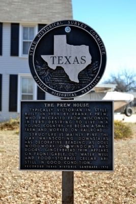The Prew House Marker image. Click for full size.