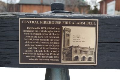 Central Firehouse Fire Alarm Bell Marker image. Click for full size.