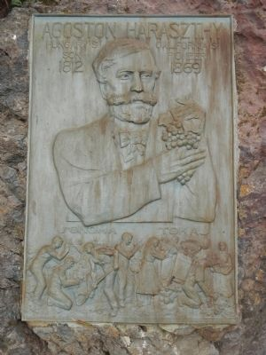 Agoston Haraszthy plaque image. Click for full size.