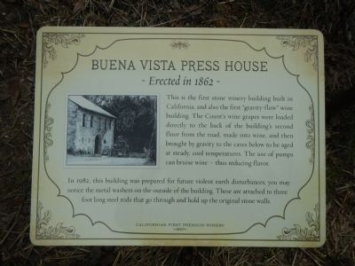 Buena Vista Press House Marker image. Click for full size.