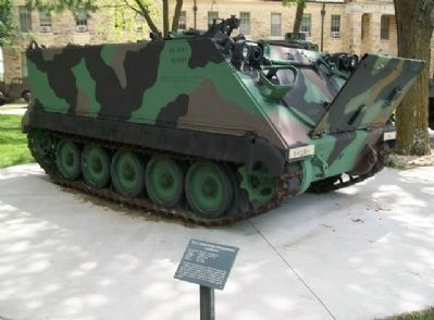 M113 Armored Personnel Carrier and Marker image. Click for full size.