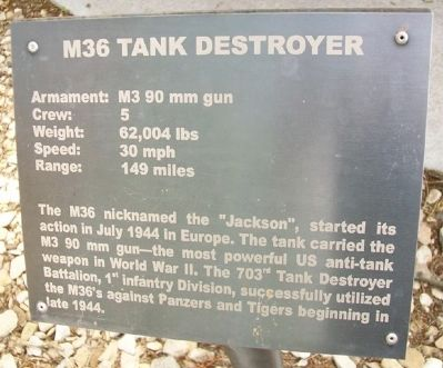 M36 Tank Destroyer Marker image. Click for full size.