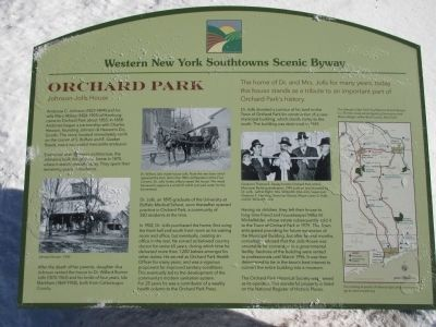 Orchard Park (Johnson-Jolls House) Western New York Southtowns Scenic Byway Marker image. Click for full size.
