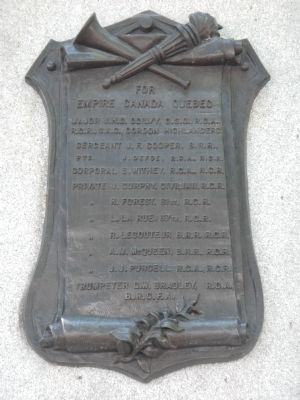 Quebec Boer War Memorial Marker image. Click for full size.