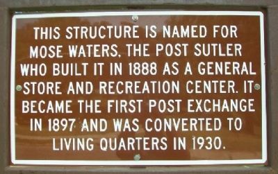 Mose Waters' General Store Marker image. Click for full size.