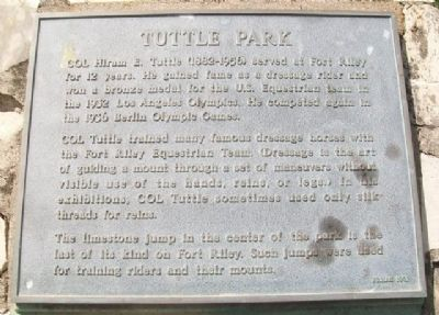 Tuttle Park Marker image. Click for full size.