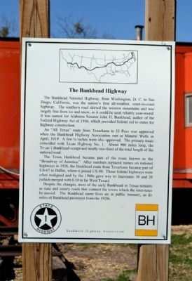 The Bankhead Highway Marker image. Click for full size.