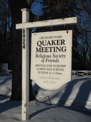Quaker Meeting Roadside Sign image. Click for full size.