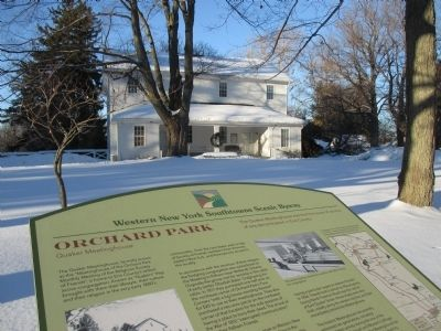 Marker and Meetinghouse image. Click for full size.
