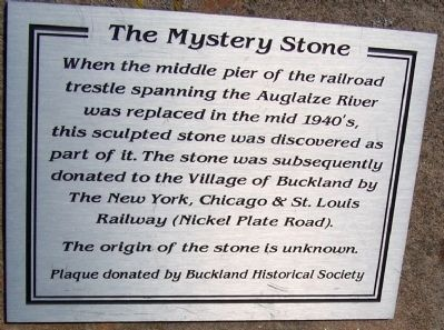 The Mystery Stone Marker image. Click for full size.