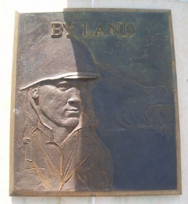 World War II Memorial <i>By Land</i> Relief image. Click for full size.