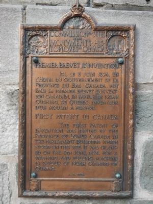 First Patent in Canada Marker image. Click for full size.