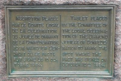 Diamond Jubilee of Confederation Marker image. Click for full size.