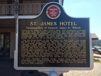 St. James Hotel Marker (Front) image. Click for full size.