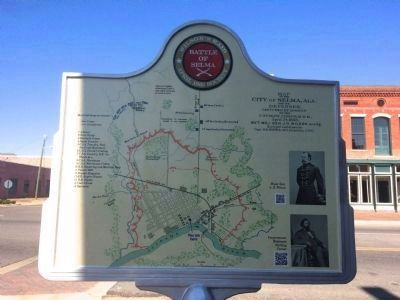 Marker (Rear) - Map of Battle of Selma image. Click for full size.