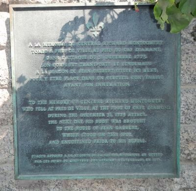General Richard Montgomery Marker image. Click for full size.