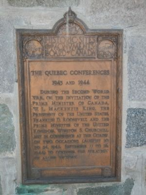 The Quebec Conferences Marker image. Click for full size.