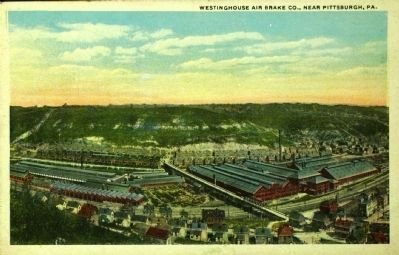 <i>Westinghouse Air Brake Co., Near Pittsburgh, Pa.</i> image. Click for full size.