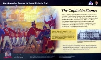 The Capitol in Flames Marker image. Click for full size.
