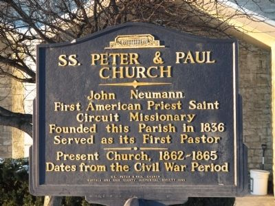 SS. Peter & Paul Church Marker image. Click for full size.