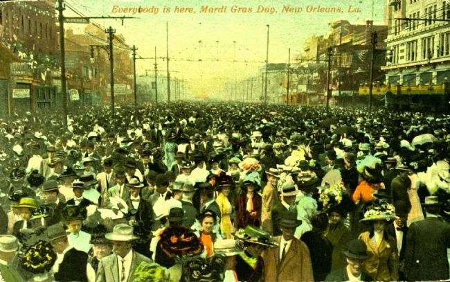 <i>Everybody is Here, Mardi Gras Day, New Orleans, La.</i> image. Click for full size.