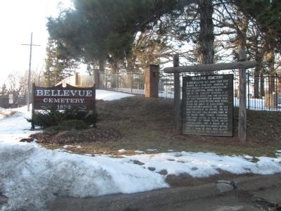 Information about this historic cemetery is located at the entrance. image. Click for full size.