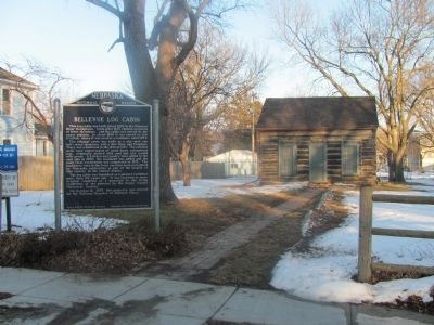 This log cabin in Bellevue is among the first buildings constructed in the area. image. Click for full size.